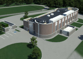 PROJECTS: Glimpse of pump station at Bratenahl site [Architect rendering]