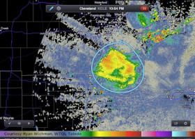 PIC: Just your normal everyday swarm of bugs so thick you can see it on radar