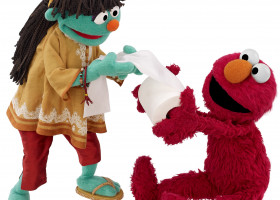CHILDREN: New Sesame Street muppet stands up for health, sanitation, education