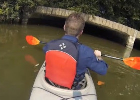 VIDEO: This guy kayaks into a DC sewer tunnel. It's educational, but don't try it at home.