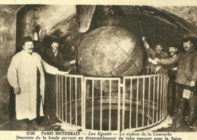 HISTORY: Big balls were used to clear sewers of the 1870s