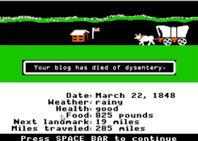 "GAMES: ""You have died of cholera,"" and other health lessons #OregonTrail teaches us"