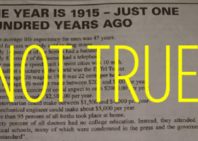 HISTORY: This viral list of 1915 facts is full of lies. Except the ones about water.
