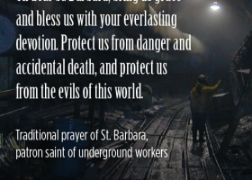 TUNNELS: Devotion to St. Barbara is a tradition that dates back to the earliest days of tunneling