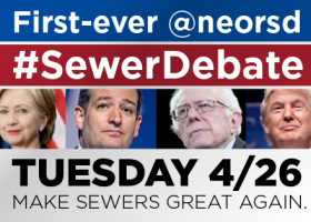 #SewerDebate: The 2016 election is about to go down the drain April 26, and for a good reason.