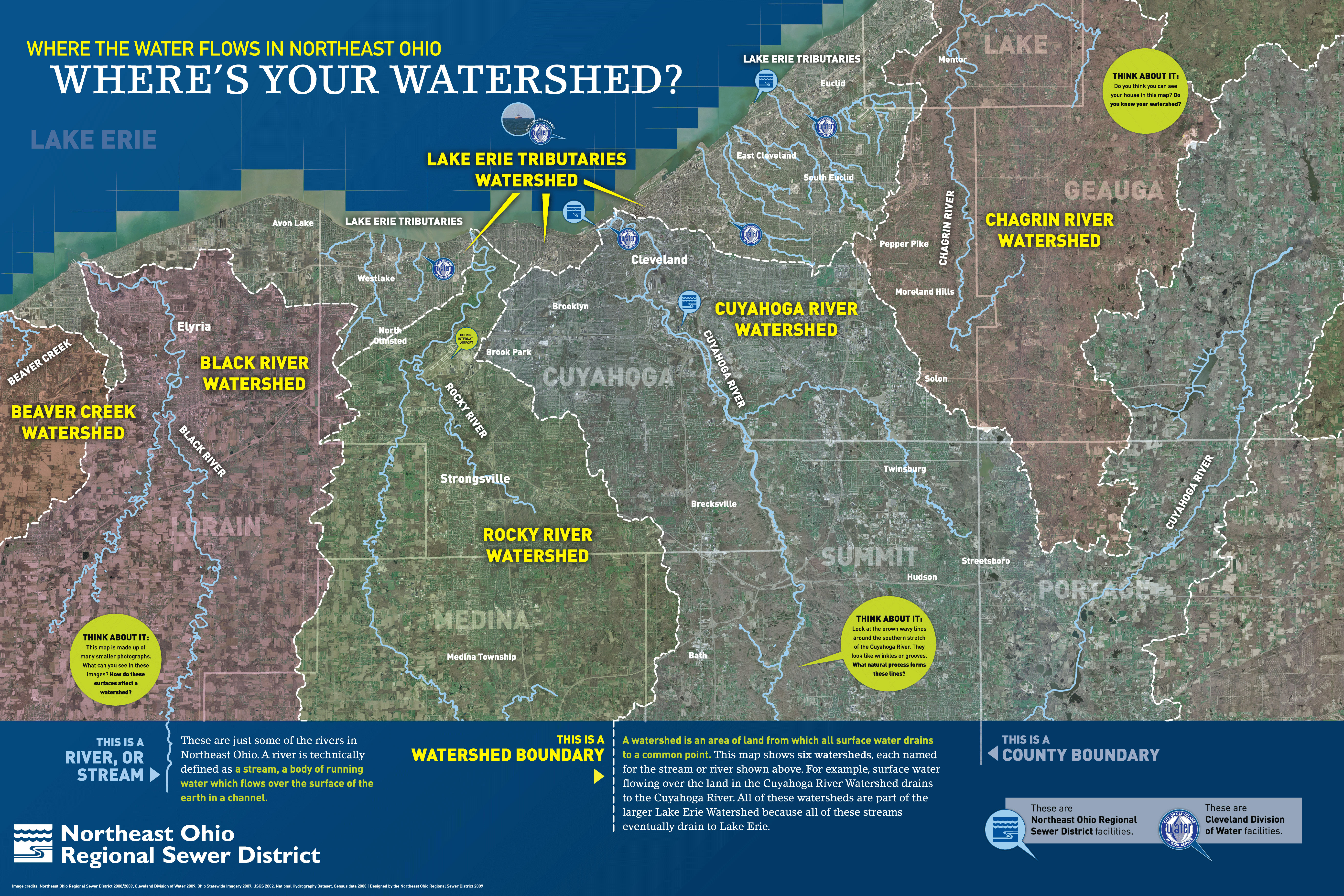 Understanding Watersheds Northeast Ohio Regional Sewer District - Cleveland us map